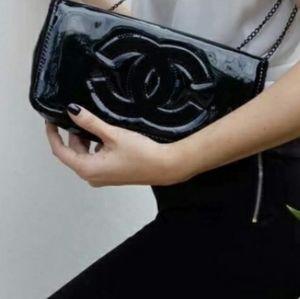 Chanel VIP Patent Cross body Shoulder Clutch Bag